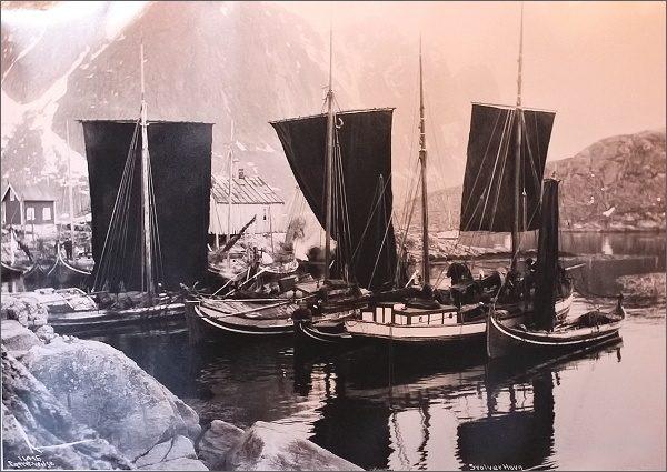 Kabelvåg, Lofotmuseet, dobová fotografie
