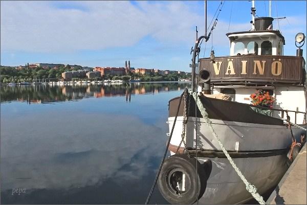 Ráno na stockholmském nábřeží