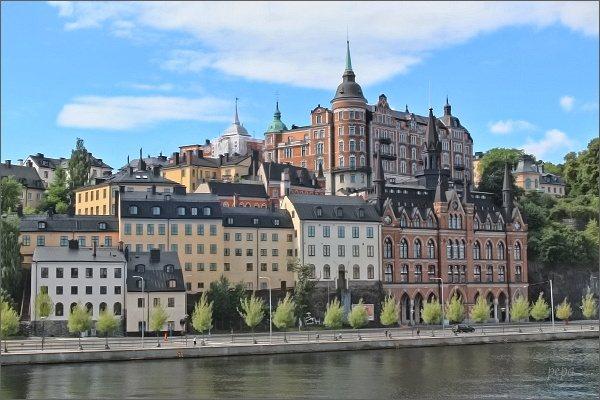 Terasa Monteliusvägen na ostrově Södermalm