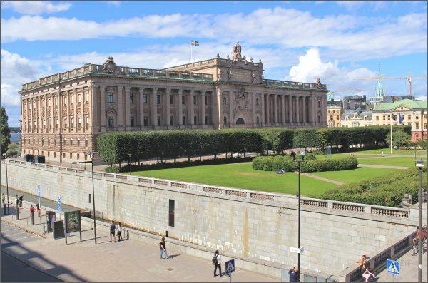 Riksdag, budova švédského parlamentu