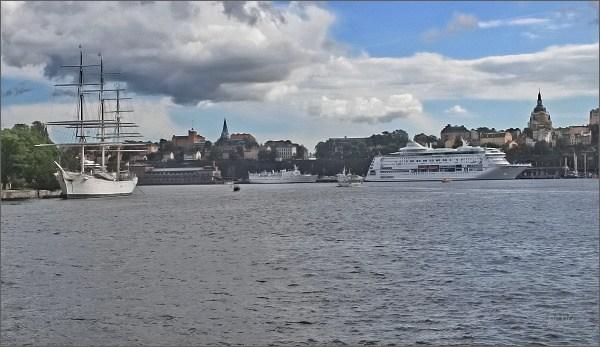 Stockholm. Přístav a trojstěžník Chapman