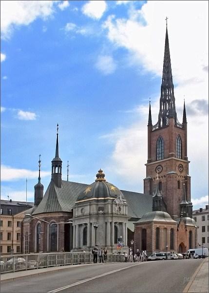 Gamla Stan s kostely Riddarholmskyrkan