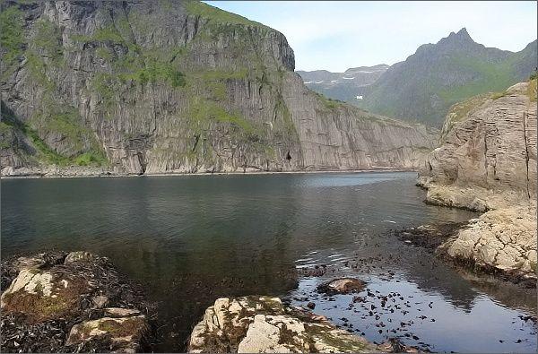 Pobřeží u Å i Lofoten