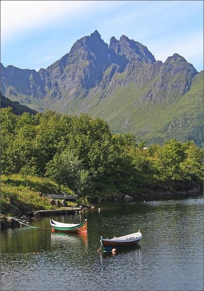 Å i Lofoten, jezero Ågvatnet