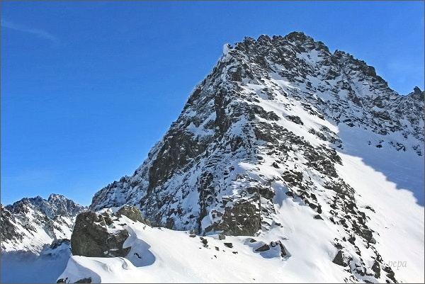 Vysoké Tatry, sedlo Váha a Ťažký štít