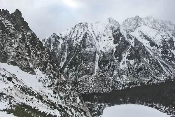 Vysoké Tatry, Popradské pleso a Bašty zpod Sedla pod Ostrvou