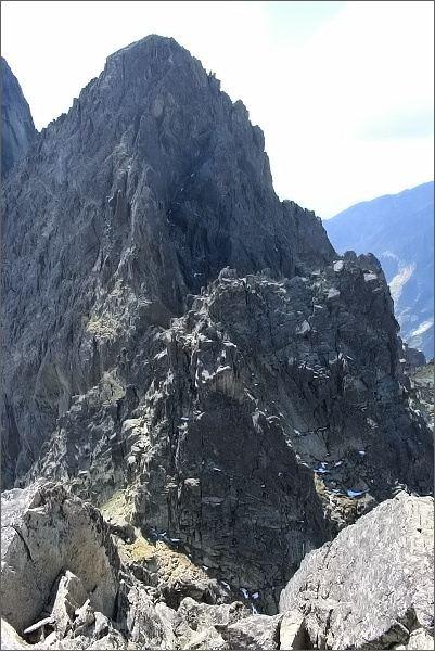 Drobná a Žltá veža ze Sokolej veže