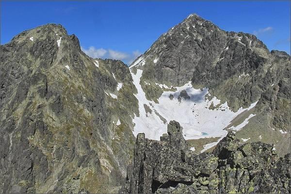 Široká veža a Ľadové štíty ze Sokolej veže