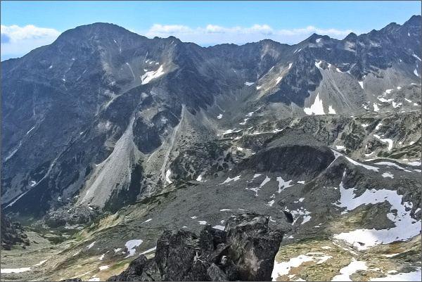 Slavkovský štít, Vareškový hrebeň a Slavkovské veže z Priečnej veže