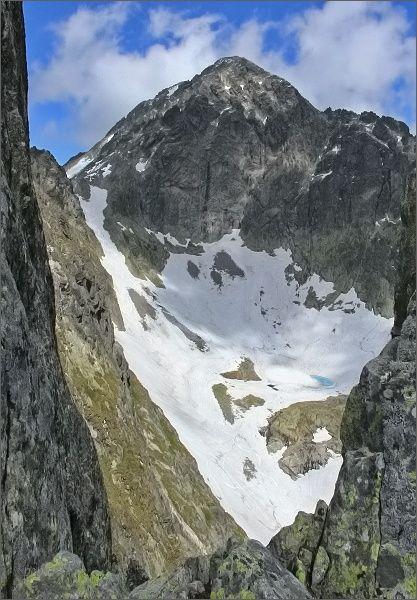 Malý Ľadový štít zpod Priečnej veže