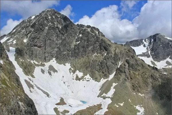 Malý Ľadový štít a Baranie rohy zpod Priečnej veže