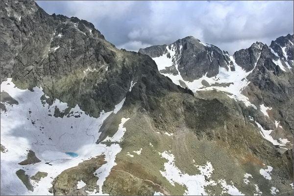Pfinnova kopa (v popředí) a Baranie rohy z Priečnej veže