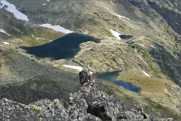 Kotlina Piatich Spišských plies s Téryho chatou z Priečnej veže