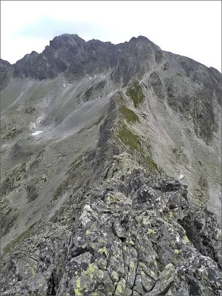 Furkotský štít a Hrubý vrch z Malej Furkotskej veže