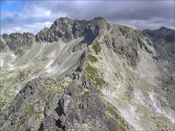Hrubý vrch a Furkotský štít z Veľkej Furkotskej veže