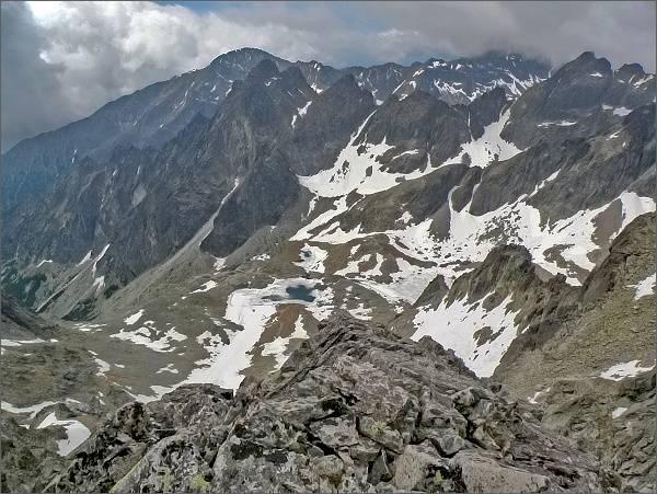 Malá Studená dolina (Kotlina Piatich Spišských plies) z Ovčiarskej veže