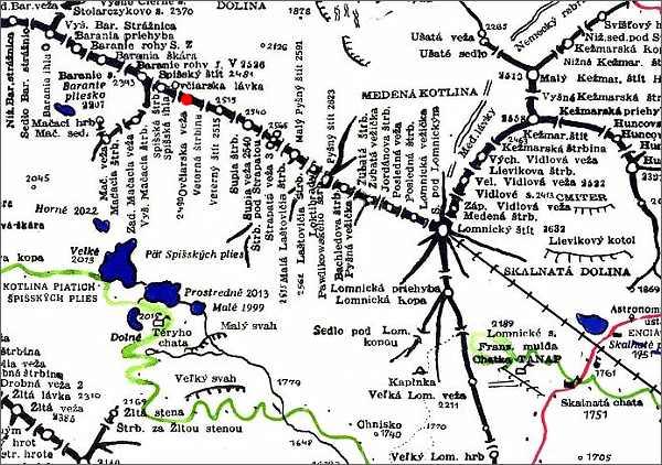 Ovčiarska veža, mapa