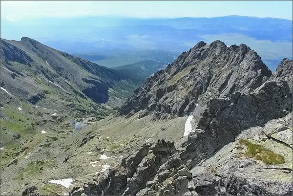 Ústí Mlynickej doliny z Prostredného Soliska