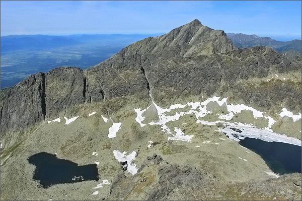 Furkotská dolina, hrebeň Ostre a Kriváň z Prostredného Soliska