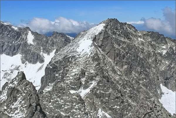 Snehový štít (vlevo) a Baranie rohy z Veterného štítu