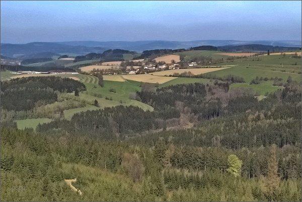 Rozhledna Horní les. Pohled k severozápadu