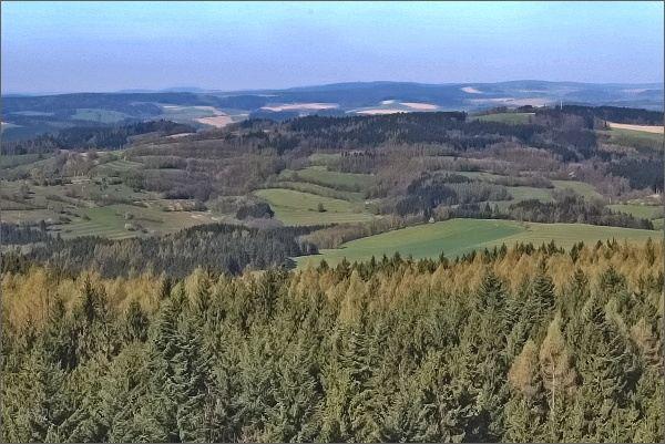 Rozhledna Horní les. Pohled k západu