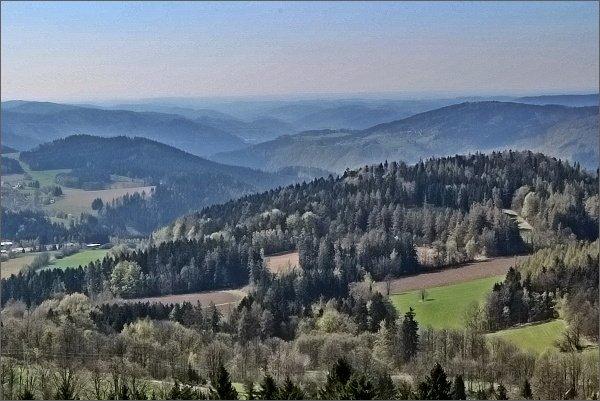 Údolí Svratky pod Vírskou přehradou z Horního lesa