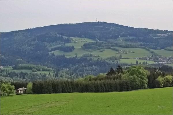 Horní les a Javorův kopec z rozhledny Karasín