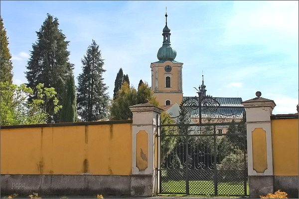 Jimramov. Zámek a kostel Narození Panny Marie