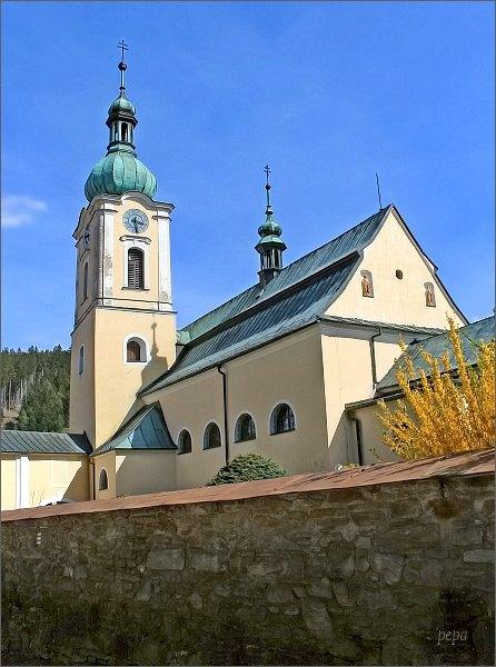 Jimramov. Kostel Narození Panny Marie