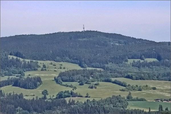 Horní les z rozhledny Karasín