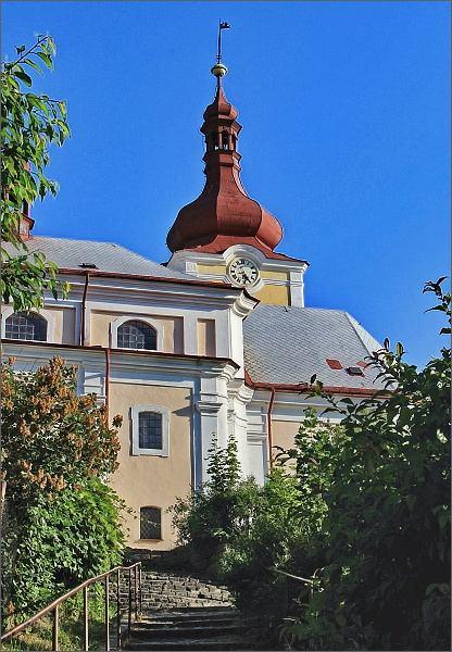 Sloup v Čechách. Kostel svaté Kateřiny Alexandrijské