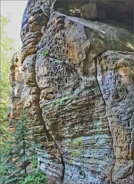 Skalní stěny v Modlivém dole