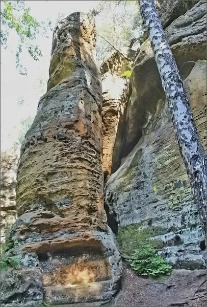 Skalní věže v Modlivém dole