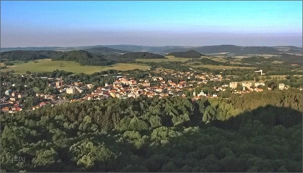 Česká Kamenice z vyhlídky na Jehle