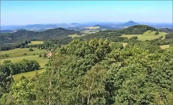 Lužické hory ze Stříbrného vrchu