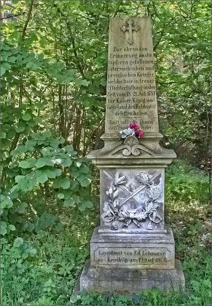 Pomník padlým vojákům z klání pod Studencem roku 1757