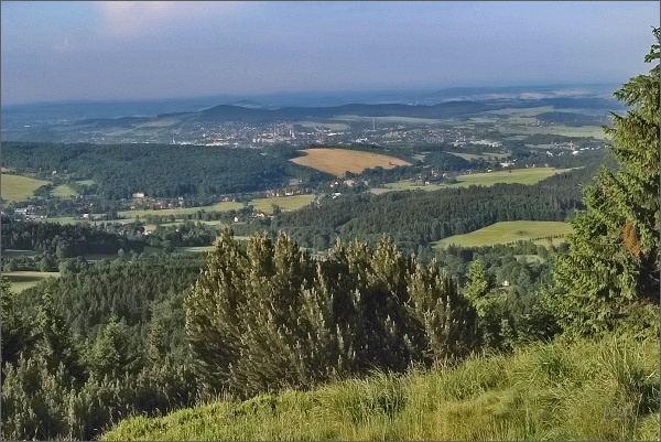 Jedlová, pohled k Varnsdorfu
