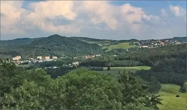 Kamenický Šenov ze Zámeckého vrchu