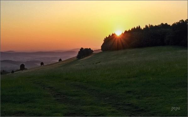 Východ slunce v Lužických horách