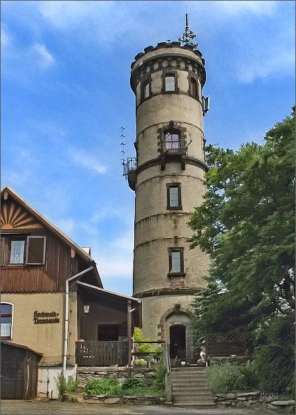 Hvozd, rozhledna na německém vrcholu