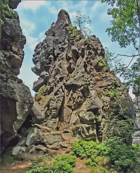 Skalní věže na hřebeni Brandhöhe