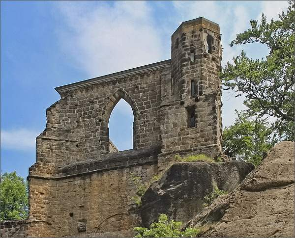 Hrad Oybin, kostelní věž