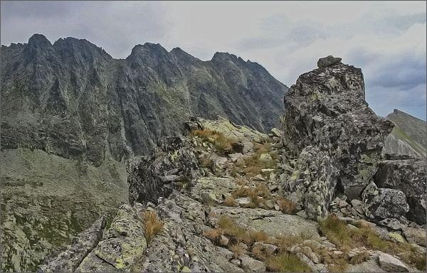 Na severním vrcholu Ostrej veže