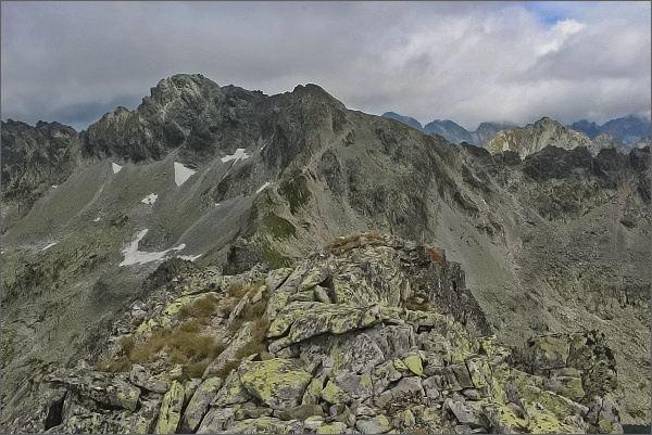 Furkotský štít a Hrubý vrch z Ostrej