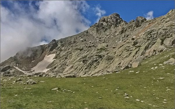 Horská louka pod Monte d´ Oro