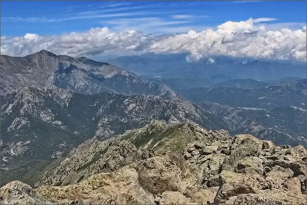 Monte d´ Oro, pohled k severu. Monte Cardo