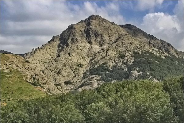 Masív Monte d´Oro od sedla Col de Vizzavona