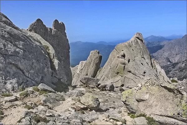Punta Dell´Oriente, žulové skalní město