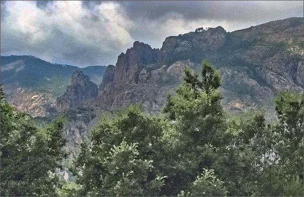 Nad kaňonem Spelunca